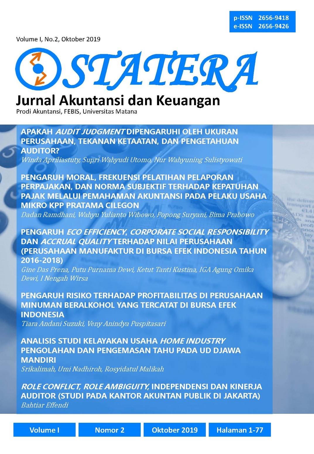 Pengaruh Moral Frekuensi Pelatihan Pelaporan Perpajakan Dan
